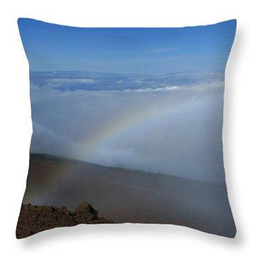 Kilakila O Haleakala Ala Hea Ka La Throw Pillow by Sharon Mau