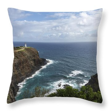 Kilauea Lighthouse - Kauai Hawaii Throw Pillow by Brian Harig