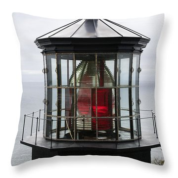 Kilauea Lighthouse Throw Pillow by Peter French
