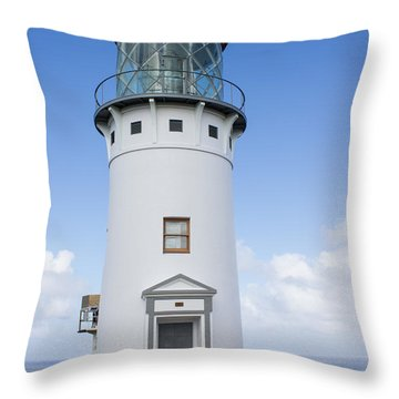Throw Pillow featuring the photograph Kilauea Lighthouse by Suzanne Luft