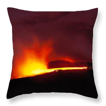 Kilauea Volcanoes National Park Hawaii Throw Pillow