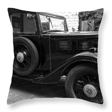 Kilbeggan Distillery's Old Car Throw Pillow by RicardMN Photography