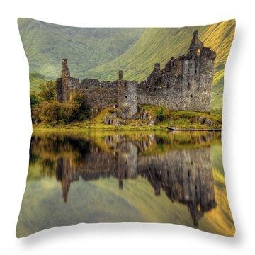 Castle Ruins Throw Pillows