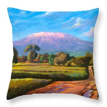Kilimanjaro Throw Pillow