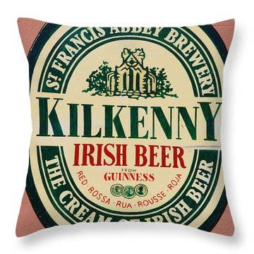 Kilkenny Irish Beer Throw Pillow
