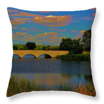 Kilkona Park Bridge Throw Pillow