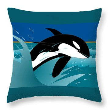 Killer Whale Throw Pillow
