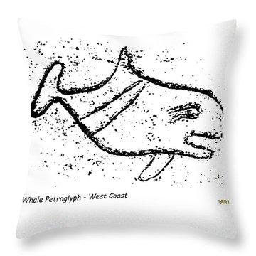 Killer Whale Petroglyph Throw Pillow