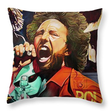 Throw Pillow featuring the painting Killing In The Name by Joshua Morton