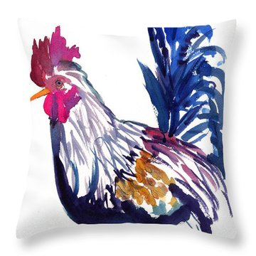 Kilohana Rooster Throw Pillow by Marionette Taboniar