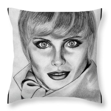 Kim Alexis In 1985 Throw Pillow by J McCombie