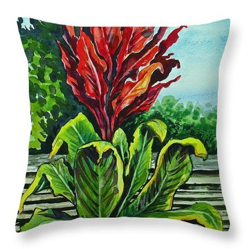 Kim Dracena Throw Pillow
