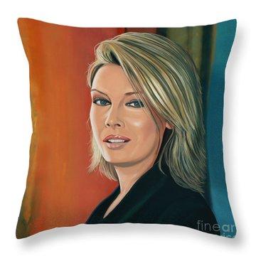 Kim Wilde Painting Throw Pillow