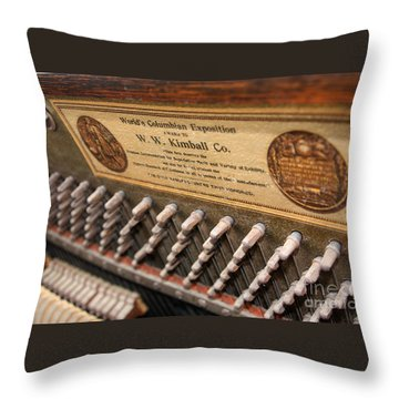 Kimball Piano-3476 Throw Pillow by Gary Gingrich Galleries
