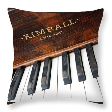 Kimball Piano-3479 Throw Pillow by Gary Gingrich Galleries