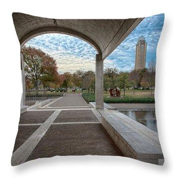 Kimbell Art Museum Fort Worth Throw Pillow