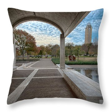Kimbell Art Museum Fort Worth Throw Pillow