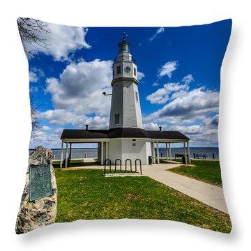 Kimberly Point Lighthouse Throw Pillow by Randy Scherkenbach