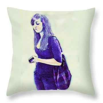 Kind Of Blue Throw Pillow by Jane Schnetlage