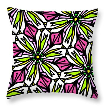 Throw Pillow featuring the digital art Kind Of Cali-lily by Elizabeth McTaggart