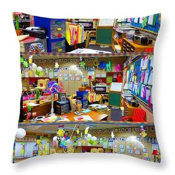 Kindergarten Classroom Throw Pillow