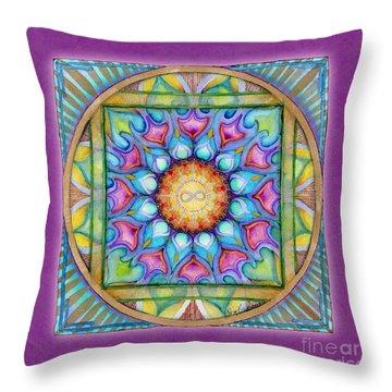 Kindness Mandala Throw Pillow