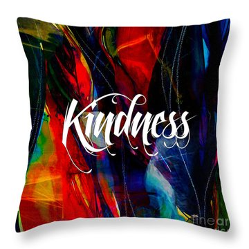 Kindness Throw Pillow by Marvin Blaine