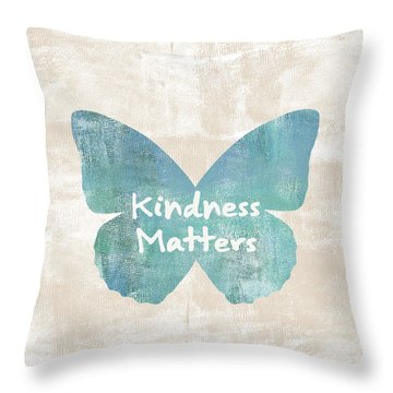 Kindness Matters Butterfly Throw Pillow