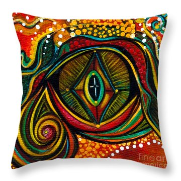 Throw Pillow featuring the painting Kindness Spirit Eye by Deborha Kerr
