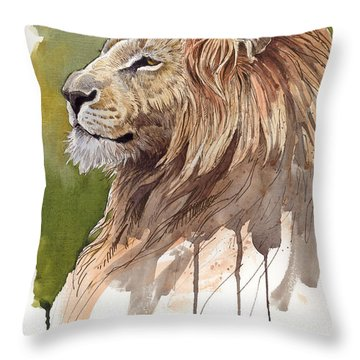 Throw Pillow featuring the digital art King by Aaron Blaise