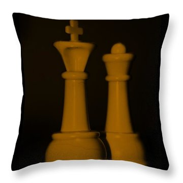 King And Queen In Orange Throw Pillow by Rob Hans