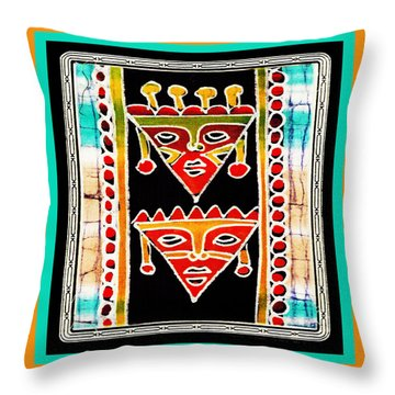 Throw Pillow featuring the digital art King And Queen by Vagabond Folk Art - Virginia Vivier