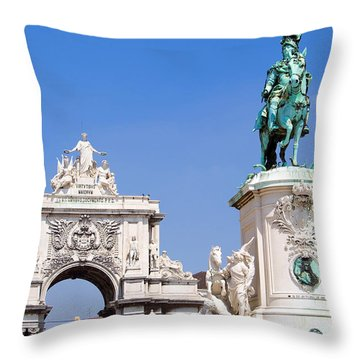 King And Triumph Throw Pillow by Jose Elias - Sofia Pereira