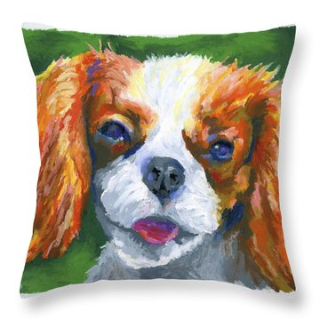 King Charles Throw Pillow by Stephen Anderson