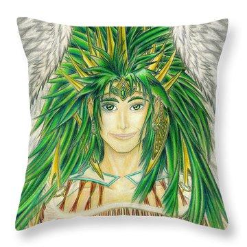 King Crai'riain Portrait Throw Pillow
