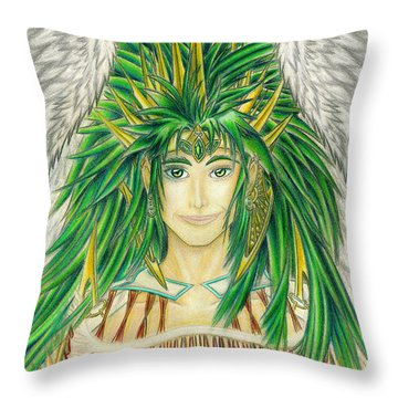 King Crai'riain Portrait Throw Pillow