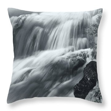 Throw Pillow featuring the photograph King Creek Falls by Jonathan Nguyen