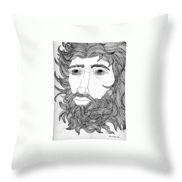 King David Throw Pillow by Fred Jinkins