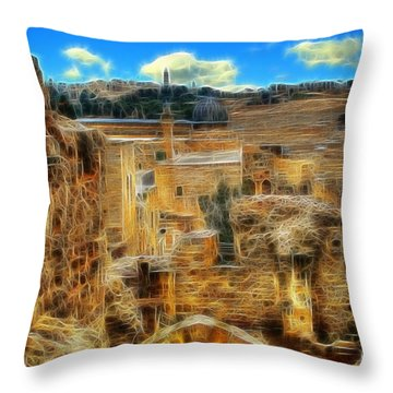 King Davids House Throw Pillow