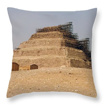King Djoser The Great Of Saqqara Throw Pillow by Anthony Baatz