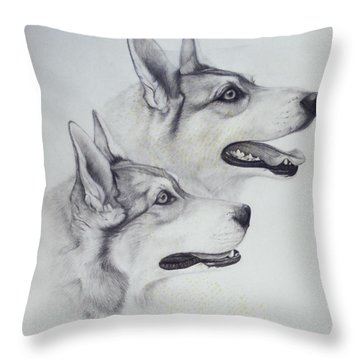 King Dogs Throw Pillow by Joey Nash