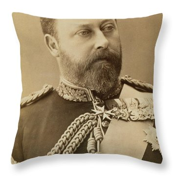 King Edward Vii  Throw Pillow by Stanislaus Walery