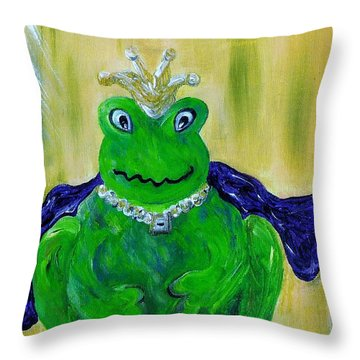 King For A Day Throw Pillow by Eloise Schneider