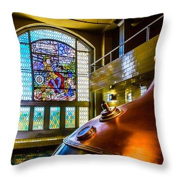 King Gambrinus Throw Pillow by Randy Scherkenbach