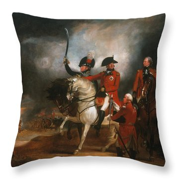King George IIi And The Prince Of Wales Throw Pillow by Sir William Beechey