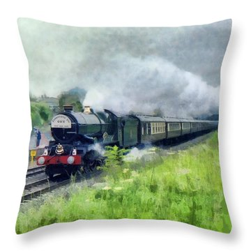 'king George V' Locomotive Throw Pillow