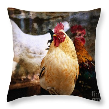 King In The Chicken Coop Throw Pillow