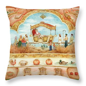 King In The Field Throw Pillow by Michoel Muchnik