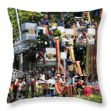 King Kamehameha Draped Throw Pillow