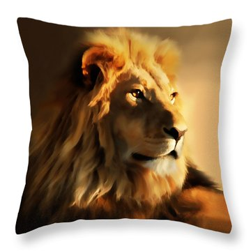 King Lion Of Africa Throw Pillow